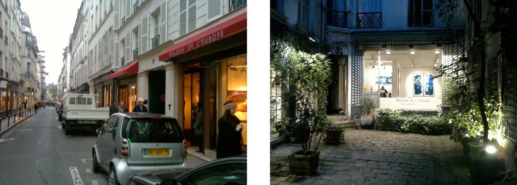 Rue de Seine und Galerie in St. Germain