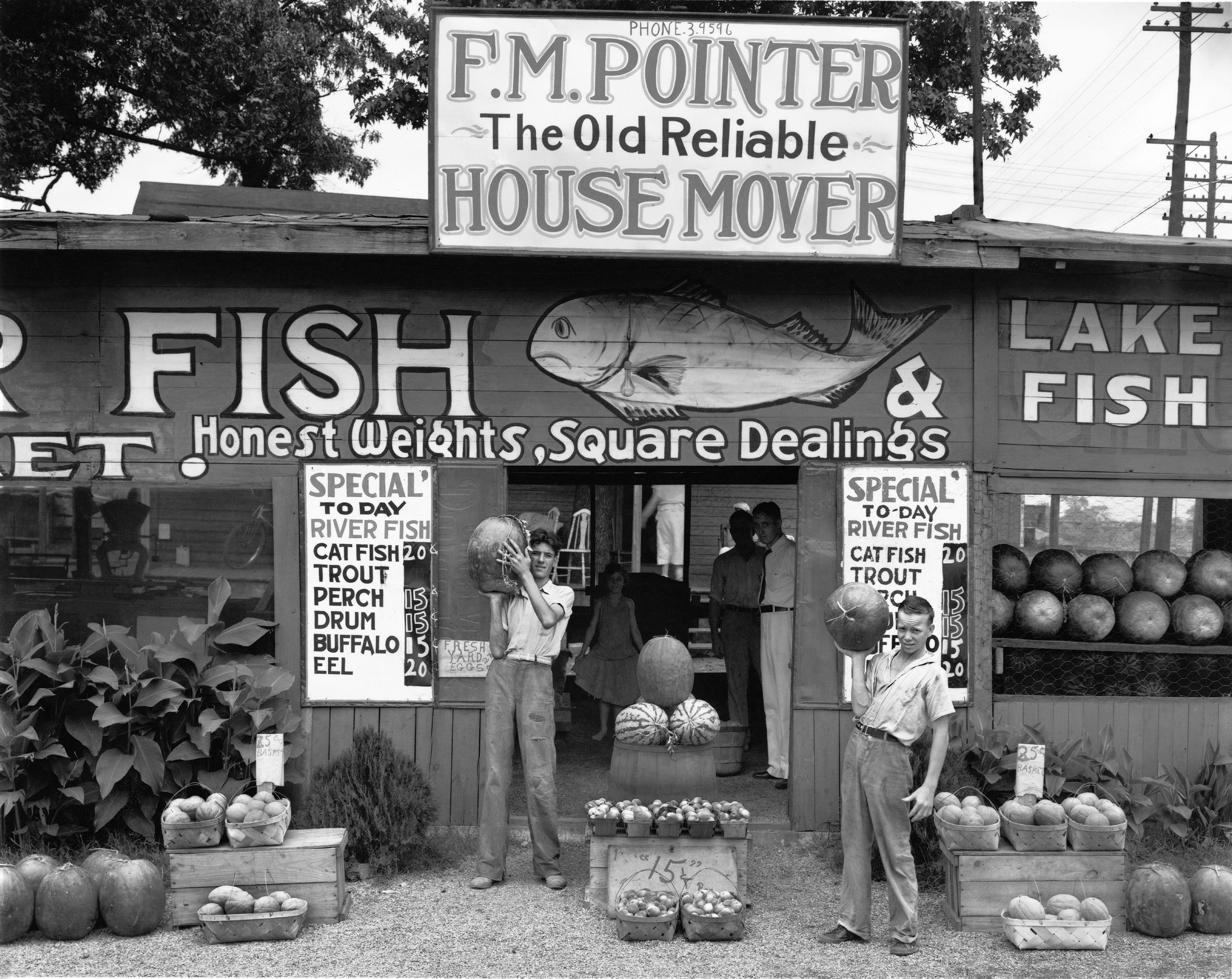 Bild: Walker Evans, Roadside Stand near Birmingham, Alabama 1936