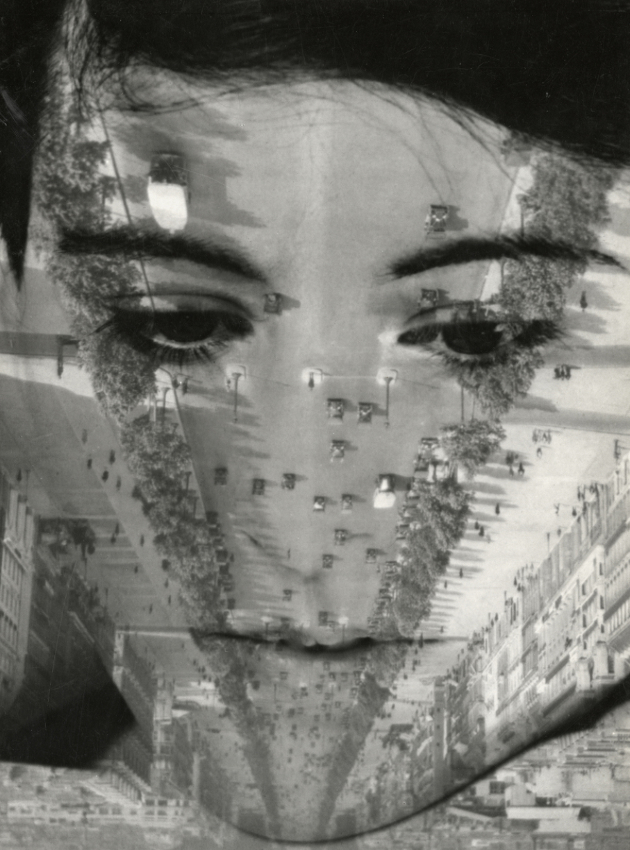 Aenne Biermann: Portrait mit Boulevard de la Grande-Armée (1931)